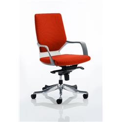 Xenon Executive Chair White Medium Coral Back Pimento Colour With Arms Ref KCUP0612