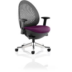 Revo Task Operator Chair Purple Colour Seat With Arms Ref KCUP0720