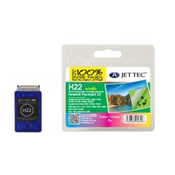 Jet Tec HP Compatible HP22/C9352AE (3x7ml) Remanufactured Colour Inkjet Cartridge