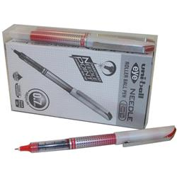 Uni-ball UB-187S Eye Needle Pen Stainless Steel Point Fine 0.7mm Tip Red Ref 153528381 [Pack 12 + 2 FREE]