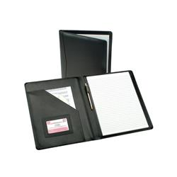 5 Star Elite Executive Conference Folder Leather Capacity 30mm W245xH320mm A4 Black