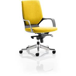 Xenon Executive Chair Black Medium Sunrise Back Sunset Colour With Arms Ref KCUP0629