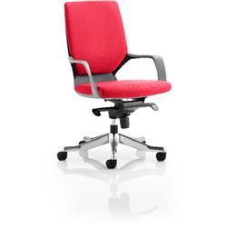 Xenon Executive Chair Black Medium Flame Back Cherry Colour With Arms Ref KCUP0625