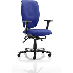 Sierra Task Operator Chair Serene Colour Fabric With Arms Ref KCUP0778