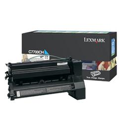 Lexmark C7700CH High Yield Cyan Laser Toner Cartridge for C770/C772 Ref 00C7700CH