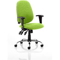 Lisbon Task Operator Chair Swizzle Colour With Arms Ref KCUP0330