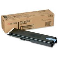 Kyocera TK-805K Black Toner Cassette for FS-C8008N/KM-C850 (Yield 25,000 Pages)