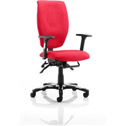 Sierra Task Operator Chair Cherry Colour Fabric With Arms Ref KCUP0776