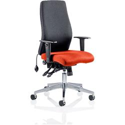 Onyx Posture Chair Without Coral Headrest Bespoke Colour Seat With Arms Ref KCUP0428