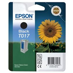 Epson T017 Black Inkjet Cartridge (Sunflower) for Stylus Color 680 Ref C13T017401