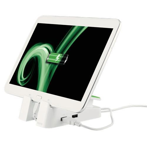 Foto Base di appoggio e ricarica Leitz - bianco - 62280001 Supporti iPhone e iPad