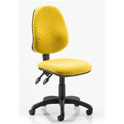 Eclipse II Task Operator Chair Sunset Colour Fabric Without Arms Ref KCUP0229