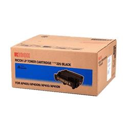 Ricoh Type 220 Black Toner Cartridge (Yield 15,000 Pages) for AP400 / 410PE