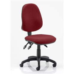 Eclipse III Task Operator Chair Chilli Colour Without Arms Ref KCUP0262