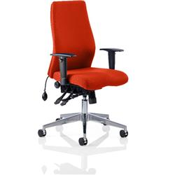 Onyx Posture Chair Pimento Colour Without Headrest With Arms Ref KCUP0444