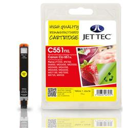 Jet Tec Canon Compatible CLI--551XL (11ml) Remanufactured Inkjet Cartridge