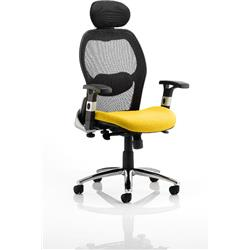 Sanderson Executive Chair Sunset Colour Seat With Arms Ref KCUP0541