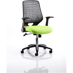 Relay Task Operator Chair Swizzle Colour Silver Back With Arms Ref KCUP0514
