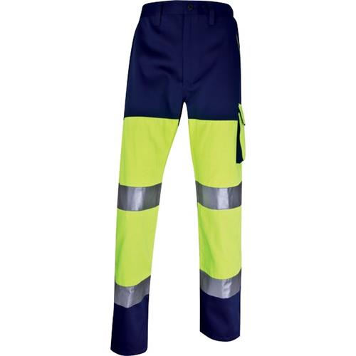 Foto Pantalone altavisibilità Delta Plus - giallo fluo/blu - L - PHPANJMGT Pantaloni