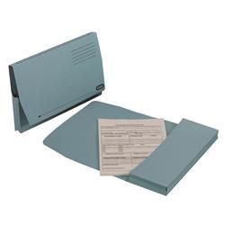 Elba Document Wallet Full Flap 260gsm Capacity 32mm Foolscap Blue Ref 100090131 - Pack 50