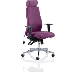 Onyx Posture Chair Purple Colour With Headrest With Arms Ref KCUP0440