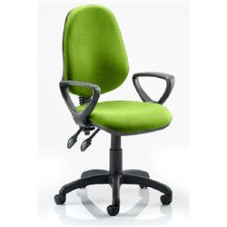 Eclipse II Lever Task Operator Chair Swizzle Colour Fabric With Loop Arms Ref KCUP0834
