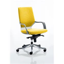 Xenon Executive Chair White Medium Sunrise Back Sunset Colour With Arms Ref KCUP0613