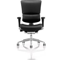 Ergo-Dynamic Posture Chair Black Frame Bonded Leather With Arms Ref PO00051