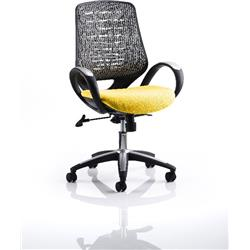 Sprint Task Operator Chair Sunset Colour Silver Back With Arms Ref KCUP0573