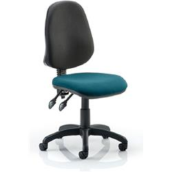 Eclipse II Task Operator Chair Kingfisher Colour Seat Fabric Without Arms Ref KCUP0239