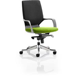 Xenon Executive Chair Black Medium Back Swizzle Colour Seat With Arms Ref KCUP0634