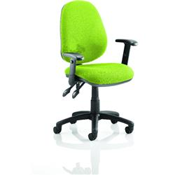 Luna II Lever Task Operator Chair Swizzle Colour With Height Adjustable Arms Ref KCUP0930