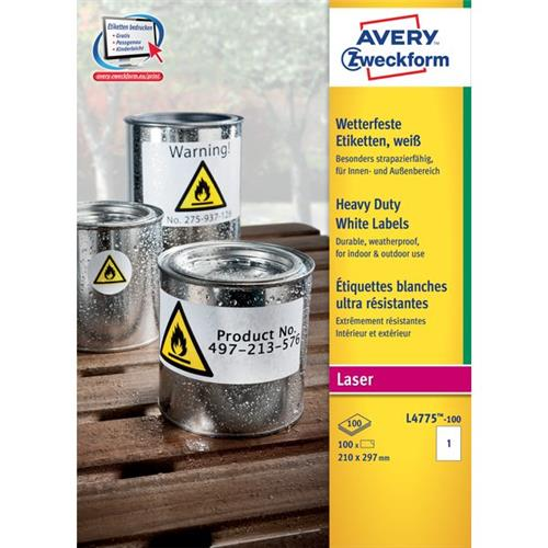 Foto Etichette in poliestere Avery - laser - bianco - 210x297 mm - 1 - vivi