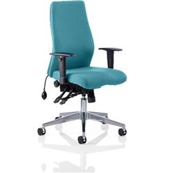 Onyx Posture Chair Kingfisher Colour Without Headrest With Arms Ref KCUP0447