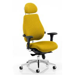 Chiro Plus Posture Chair Ultimate With Headrest Sunset Colour With Arms Ref KCUP0173