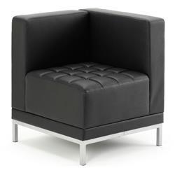 Infinity Visitor Modular Corner Unit Sofa Chair Black Bonded Leather Ref BR000198