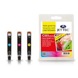 Jet Tec Canon Compatible CLI-551CMYXL (3x11ml) Remanufactured Inkjet Cartridge (Multipack - Cyan, Magenta, Yellow)