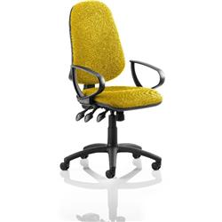 Eclipse XL III Lever Task Operator Chair Sunset Colour With Loop Arms Ref KCUP0899