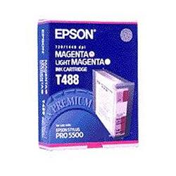 Epson Inkjet Cartridge Magenta and Light Magenta [for Stylus color Pro 5000 5500] Ref C13T488011 [Pack 2]