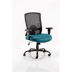 Portland HD Task Operator Chair Kingfisher Colour Seat With Arms Ref KCUP0463