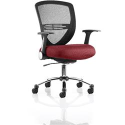 Iris Task Operator Chair Chilli Colour Seat With Arms Ref KCUP0302
