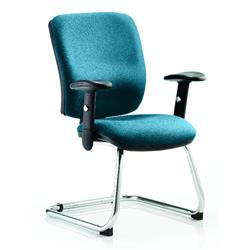 Chiro Task Operator Chair Medium Cantilever Kingfisher Colour With Arms Ref KCUP0135