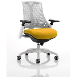 Flex Task Operator Chair White Back White Frame Solona Colour Seat With Arms Ref KCUP0733
