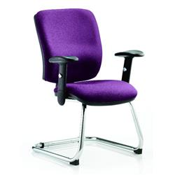 Chiro Task Operator Chair Medium Cantilever Purple Colour With Arms Ref KCUP0136