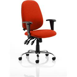 Lisbon Task Operator Chair Pimento Colour With Arms Ref KCUP0332