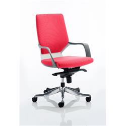 Xenon Executive Chair White Medium Flame Back Cherry Colour With Arms Ref KCUP0609