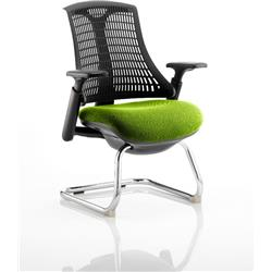 Flex Task Operator Chair Black Frame Black Back Cantilever Swizzle Colour Seat With Arms Ref KCUP0274