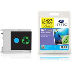 Jet Tec Brother Compatible LC970C (10ml) Remanufactured Ink Cartridge