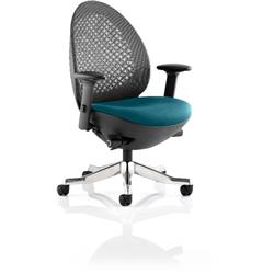 Revo Task Operator Chair Kingfisher Colour Seat With Arms Ref KCUP0719