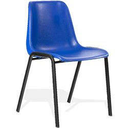 Polly Stacking Visitor Chair Blue Polypropylene Without Arms Ref BR000203